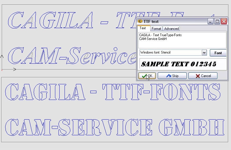 Features of the CAM software CAGILA - CAD data repair, spline