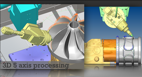 3D 5 axis processing