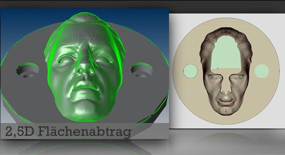 3D Flächenabtragung