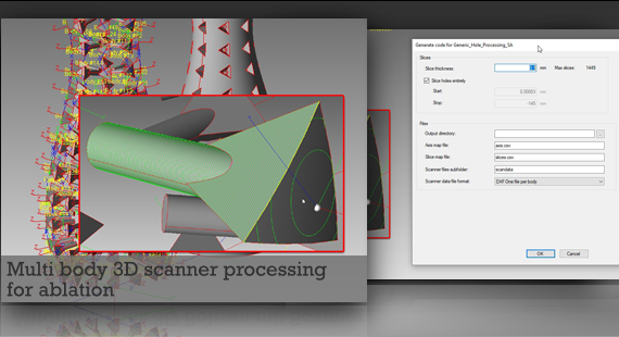 Multi body 3D scanner processing for ablation